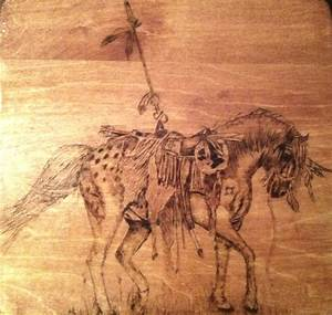 native american mustang pony wood burning by lilygirl04 on