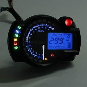 15000rpm Modern Koso Rx2n Similar Lcd Digital Motorcycle Odometer Speedometer Adjustable Max