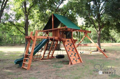 check    wood swing set shanty  chic