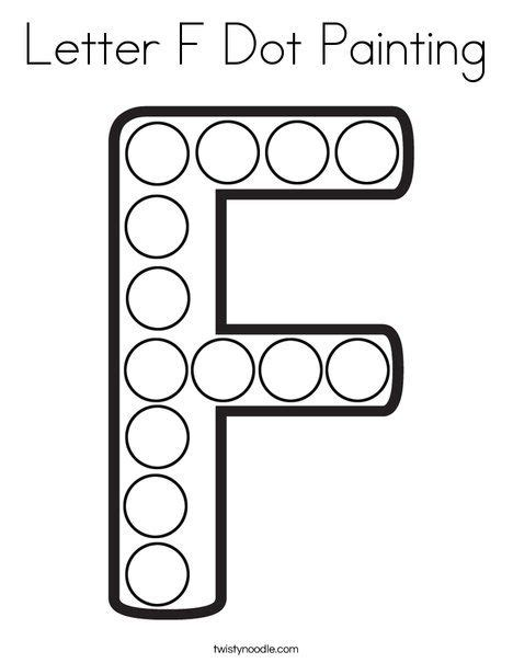 letter  dot painting coloring page twisty noodle