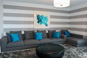 Wohnzimmer Ideen Wand : 65 wand streichen ideen muster streifen und struktureffekte ~ Sanjose-hotels-ca.com Haus und Dekorationen