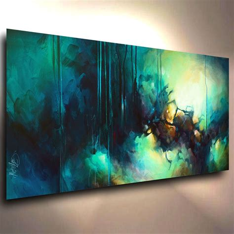 Abstract Art Modern Contemporary Giclee Canvas Print Of A