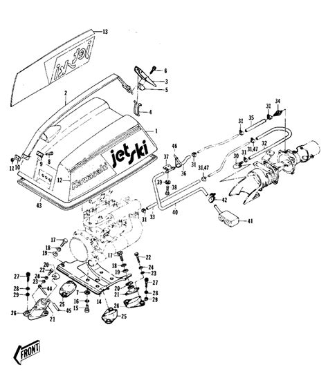 Boat Engine Cooling Diagram by I A Kawasaki 440 Jet Ski That Isn T Getting Cooling