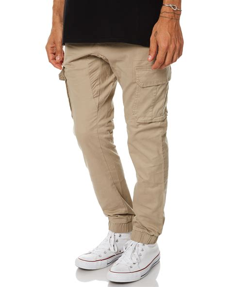 swell blunt mens cargo jogger pant khaki surfstitch
