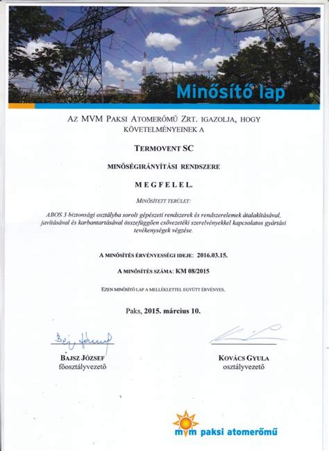 nuclear power plant paks hungary certificate termovent sc industrial valves steel foundry