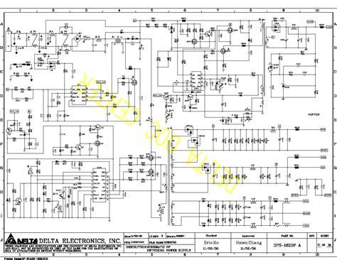 delta dps 165gp power supply sch service manual free schematics eeprom repair info