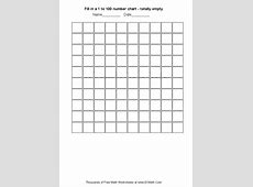 Fill in a 1 to 100 number chart totally empty Create