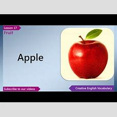 Learn English  English Vocabulary Lesson 17  Fruit  Free English Lessons, Esl English Lessons