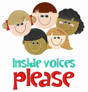 Heads Embroidery Design: Inside Voices Please from ...