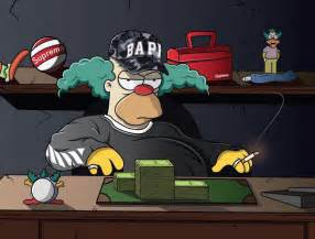 Supreme BAPE Cartoon Simpsons