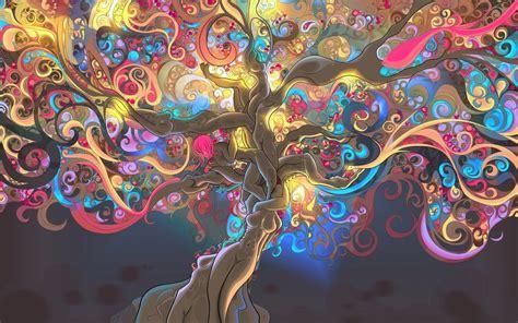 trippy tree  wallpaper