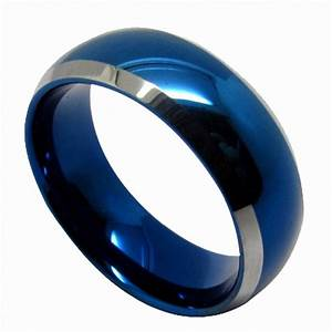 Buy Queenwish Blue Tungsten Mens Wedding