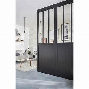 cloison de separation atelier medium mdf revetu feuille With meuble separation cuisine salon 16 installation pose dressing concept