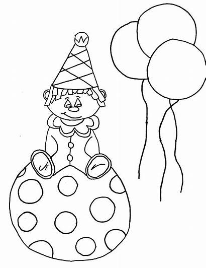 Coloring Clown Pages Face Printable Happy Sad