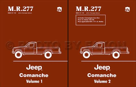 Wiring Diagram For 1988 Jeep Comanche by 1986 Jeep Comanche Wiring Diagram Set Nos