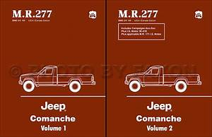 1986 Jeep Comanche Wiring Diagram Set Nos