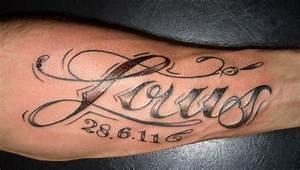Tattoo Unterarm Schrift : namen tattoo gallery ~ Frokenaadalensverden.com Haus und Dekorationen