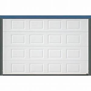Porte sectionnelle cassette aspect bois blanche for Porte de garage largeur 3 metres