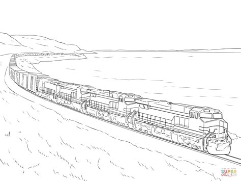 freight train coloring page  printable coloring pages