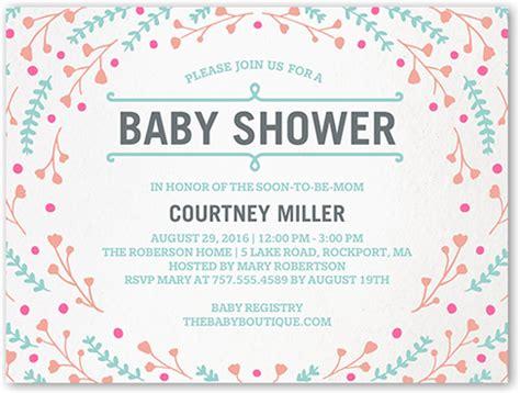 floral swirl  baby shower invitations shutterfly