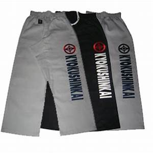 Karate Gi Size Chart Uk Elite Gi Training Trousers Any Embroidery