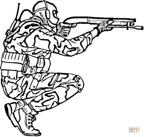 Kleurplaat Soldaten Met Geweer by Camouflage Kleurplaat Gratis Kleurplaten Printen