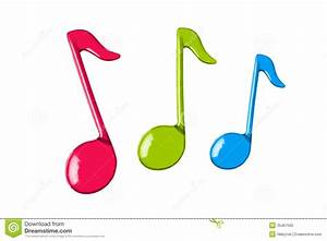 Three Color Music Notes Royalty Free Stock Photo - Image ...