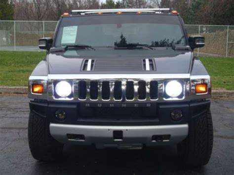 free service manuals online 2008 hummer h2 windshield wipe control sell used 2008 hummer h2 suv 4x4 low 72k mi black on black navigation camera very clean in