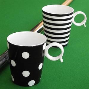 Mug Grande Contenance : mug noir pois en porcelaine grande contenance vaisselle tendance ~ Teatrodelosmanantiales.com Idées de Décoration