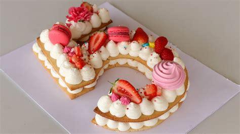 number cake alphabet cake    cream tart youtube