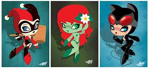 chibi harley quinn, poison ivy & catwoman | Bad Girls ...
