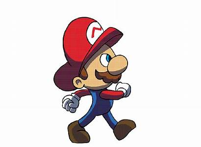 Walking Walk Cartoon Gifs Paper Clipart Mario