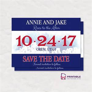 race bib save the date wedding invitation wedding With running bib template