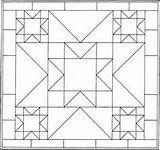 Pattern Quilt Coloring Pages Patterns Blocks Geometric Block Barn Shape Quilting Quilts 2d Printable Mandala Crazy Template Colouring Designs Star sketch template
