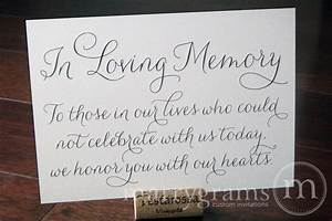 In loving memory sign table card wedding reception seating for In loving memory wedding sign