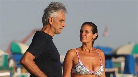 andrea bocelli enjoys  romantic day   beach