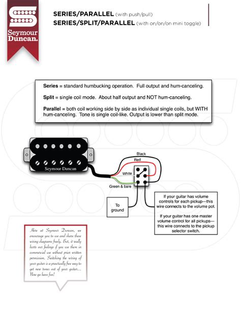 seymour duncan series parallel wiring diagram choice image