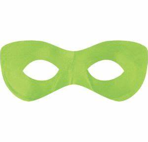 Neon Green Domino Mask 7 1 2in x 3in Party City
