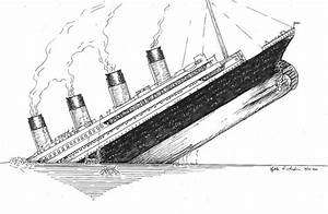 Titanic Sinking Ship Drawing Sketch Coloring Page