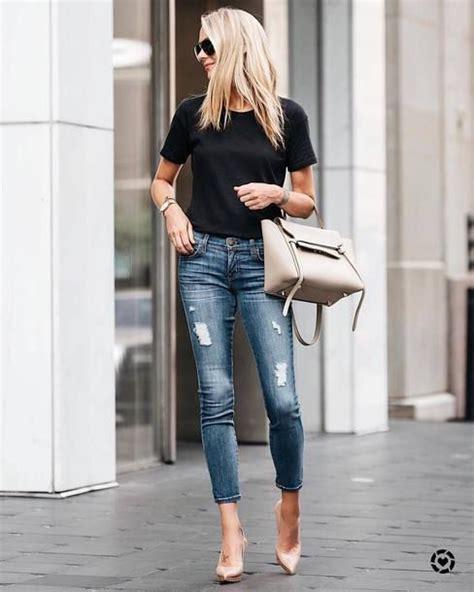 Shirt Tumblr Black Denim Jeans Blue Ripped