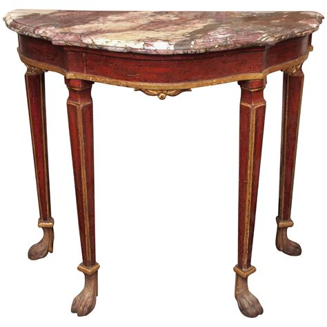 small painted console table small venetian painted console table with marble top at