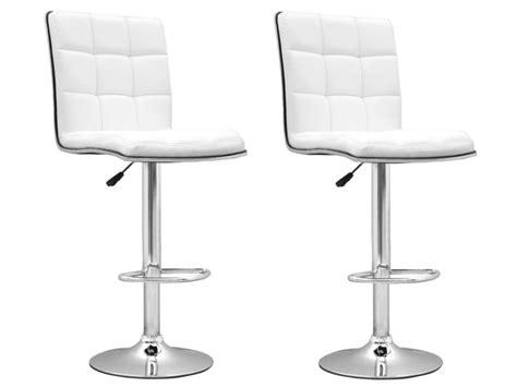 chaise de cuisine blanche pas cher chaise de bar blanc presto tabouret de bar topkoo