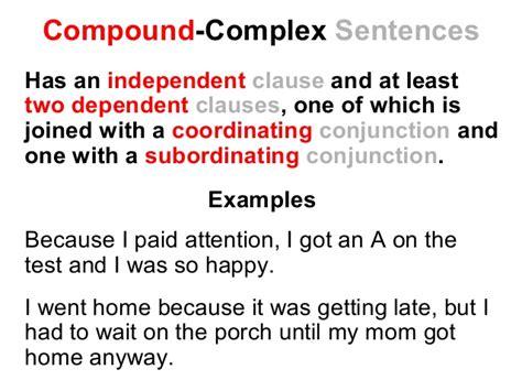 simple compound  complex sentences lesson reading