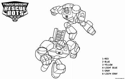 Coloring Bots Rescue Transformers Number Printable