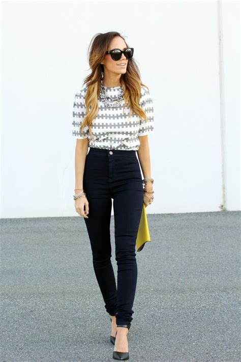 High Waist Jeans on Pinterest | Casual Spring Outfits Buckle Jeans and High Waist