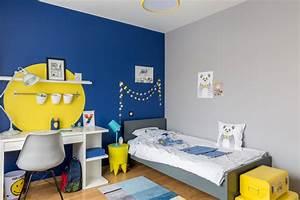 Lit Enfant 4 Ans : chambre de gar on bleue et jaune contemporain chambre d 39 enfant bordeaux par delphine ~ Teatrodelosmanantiales.com Idées de Décoration