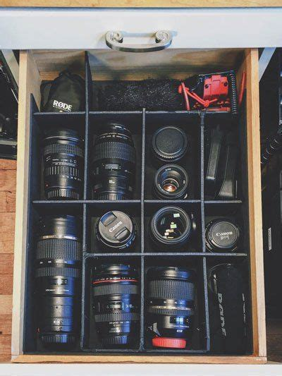 camera equipment storage  shelf converted  easy
