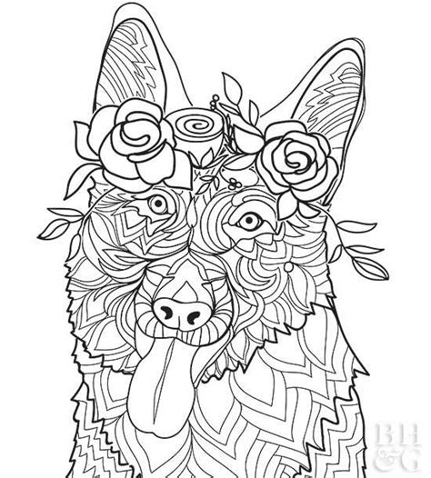 german shepherd coloring pages pet coloring pages better homes gardens
