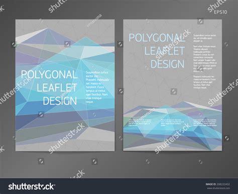 3 Column Brochure Template by Threecolumn Doublesided Vector Leaflet Brochure Cover