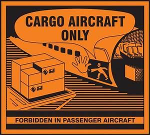 Cargo aircraft only hazardous material shipping label msl219 for Cargo aircraft only label